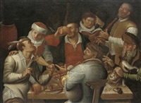 merry company making music by cornelis (kunst) cornelisz