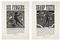 six fingers (+ sharp teeth; 2 works) by walton ford