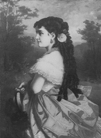 portrait de la cantratrice adelina patti by marcel johann von zadorecki