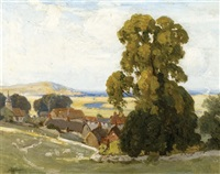 landscape in sussex by albert henry fullwood