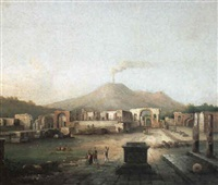 vue imaginaire d'herculanum by antonio basoli