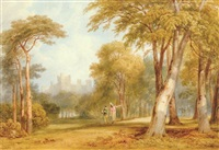 a park near middleham castle in yorkshire, king henry vi, part iii, act iv, scene v by henry gastineau