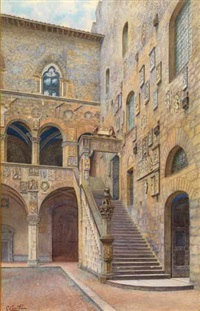 cortile del bargello by adriano cecchi