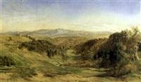 paesaggio collinare nei dintorni di roma by charles h. poingdestre
