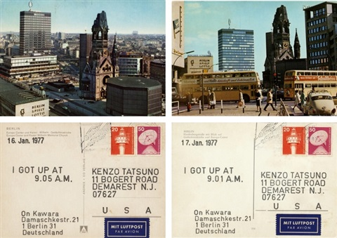 from i got up series set of 2 by on kawara