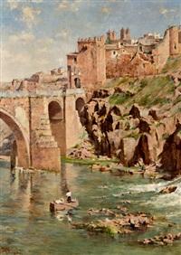 vista de toledo con el puente de san martín by ricardo arredondo calmache