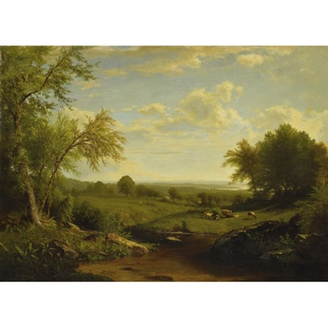 hudson river valley by richard william hubbard