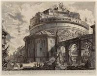 Veduta del Mausoleo d'Elio Adriano, 1754