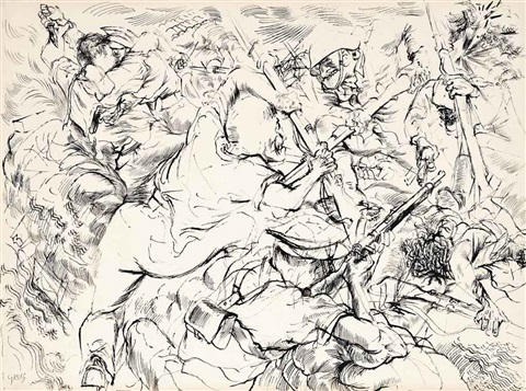 close combat by george grosz