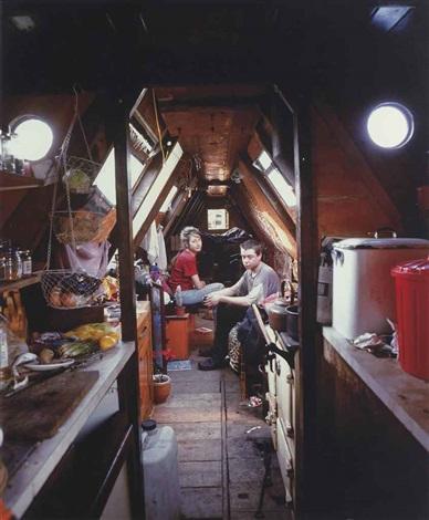 traveller series v canal boat by tom hunter