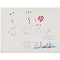 new york + paris = art by nam june paik