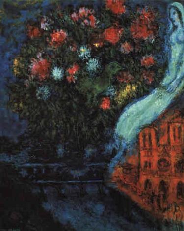 La mariée de Notre-Dame by Marc Chagall on artnet