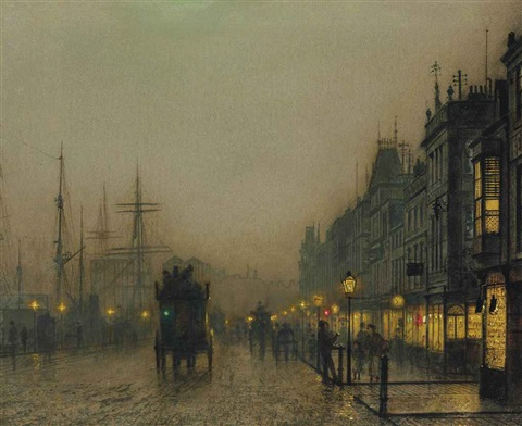 reekie glasgow by john atkinson grimshaw