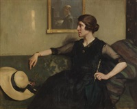 portrait of a woman by james bell anderson