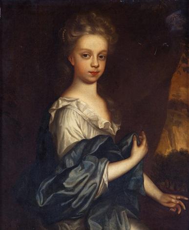 retrato de niña de medio cuerpo by sir peter lely