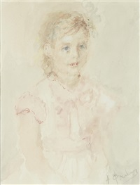 portrait of a young girl by artur v. fonvisin