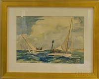 racing off edgartown by yngve edward soderberg