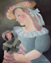 fille à la poupée by alice hohermann