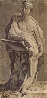 an apostle (st. bartholomew?) by domenico beccafumi