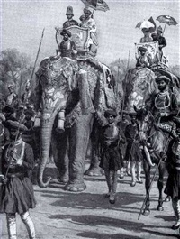 king george's visit, india by frank dadd