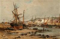 honfleur, les bateaux de pêche by amélie burdin