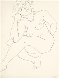 nu assis (thèmes et variations) ou femme au collier by henri matisse