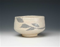 a eshino porcelain tea bowl by ishiguro munemaro