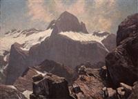 der triglav, vom gipfel des razans, julische alpen by bruno hess