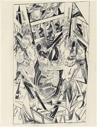 malepartus, from: hölle by max beckmann