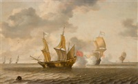 sea battle by bonaventura peeters the elder