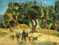 figure with donkeys by arie alweil