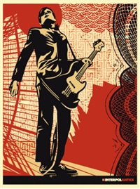 interpol (set of 4) by shepard fairey