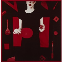 ping pong paddle (from the red series) by barbara astman