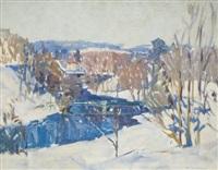 snowy landscape by bruce nelson