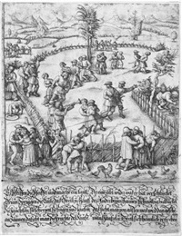 ein bauernfest (rechte platte) by daniel hopfer