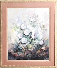 white flowers by jose vives-atsara