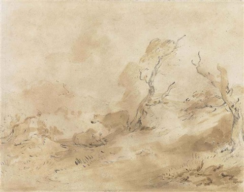 cattle in a wooded landscape by thomas gainsborough