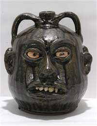 double rock tooth face jug by lanier meaders