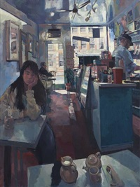 café on canal street, new york by hector mcdonnell