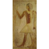 ancient egyptian with staff by joseph lindon smith