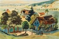 landschaft mit häusern by christian arnold