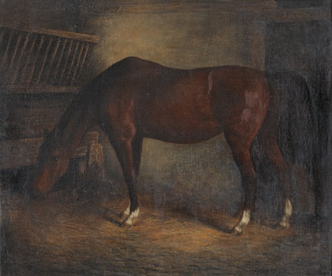 pferd im stall by jacques laurent agasse
