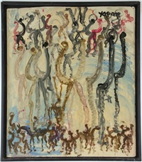 untitled (figures) by purvis young