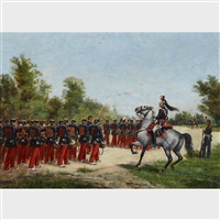 french soliders on the march by paul emile léon perboyre