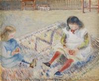 étude pour les enfants de l'artiste by camille pissarro