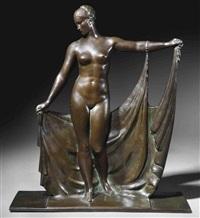 woman with drape by raymond leon rivoire