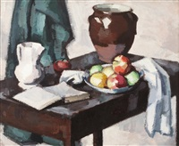 still life with crock by samuel john peploe