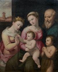 le mariage mystique de sainte catherine by innocenzo di pietro (da imola) francucci