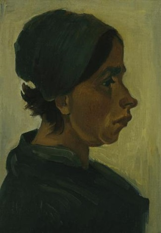 peasant woman head by vincent van gogh