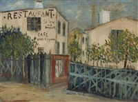 un coin de la butte montmartre by maurice utrillo